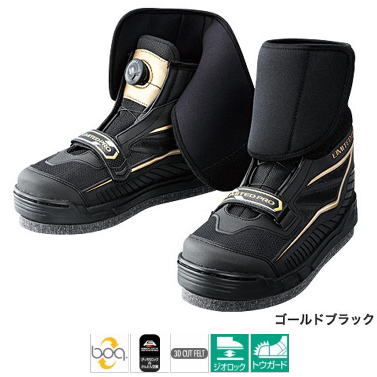 シマノ リミテッドプロ・ジオロック・3Dカットフェルトフィットシューズ FS-122P 26.0cm ゴールドブラック