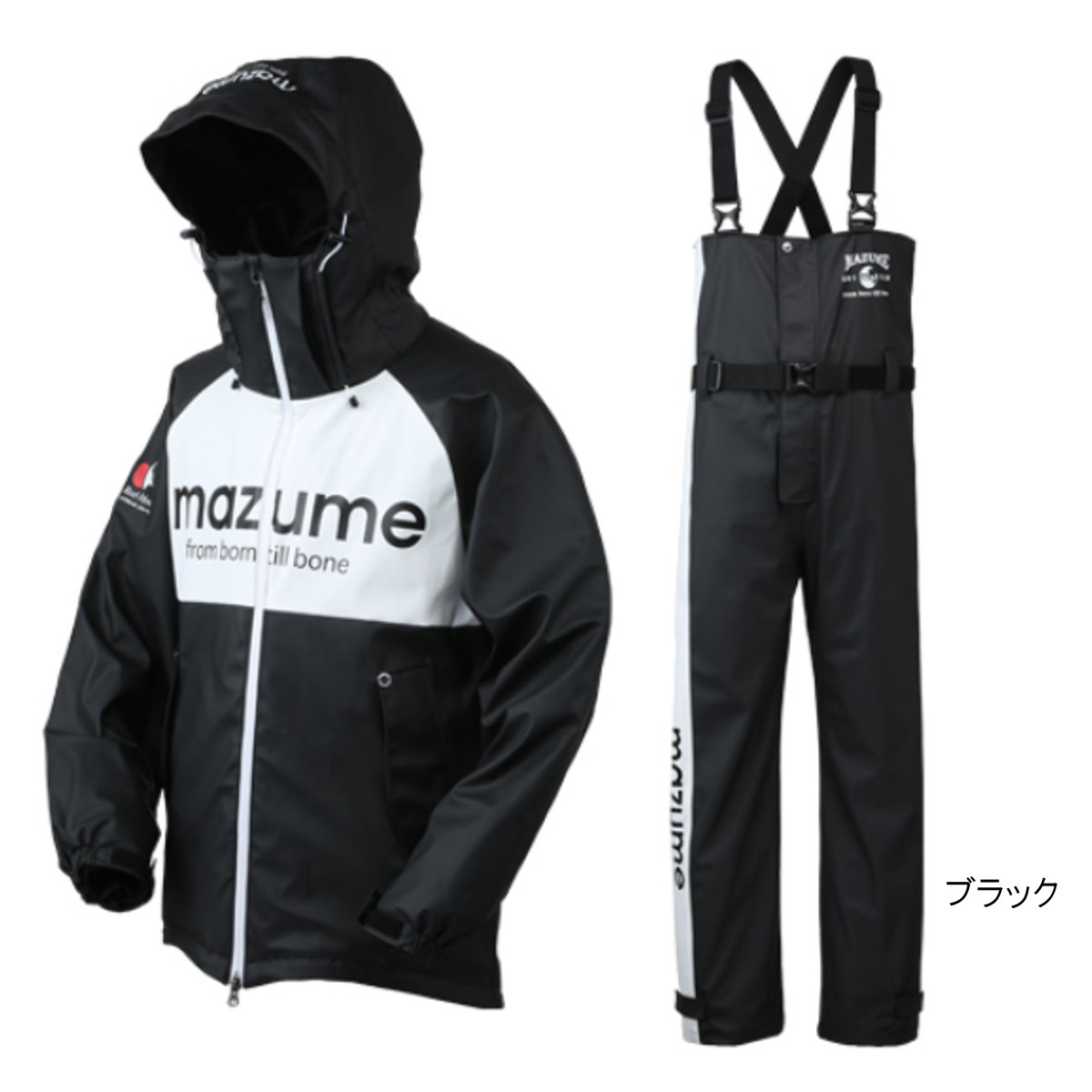 激安直営店 mazume ブラック ROUGH mazume WATER レインスーツ II レインスーツ MZRS-383 M ブラック, マルタイラーメン:0633cf39 --- canoncity.azurewebsites.net