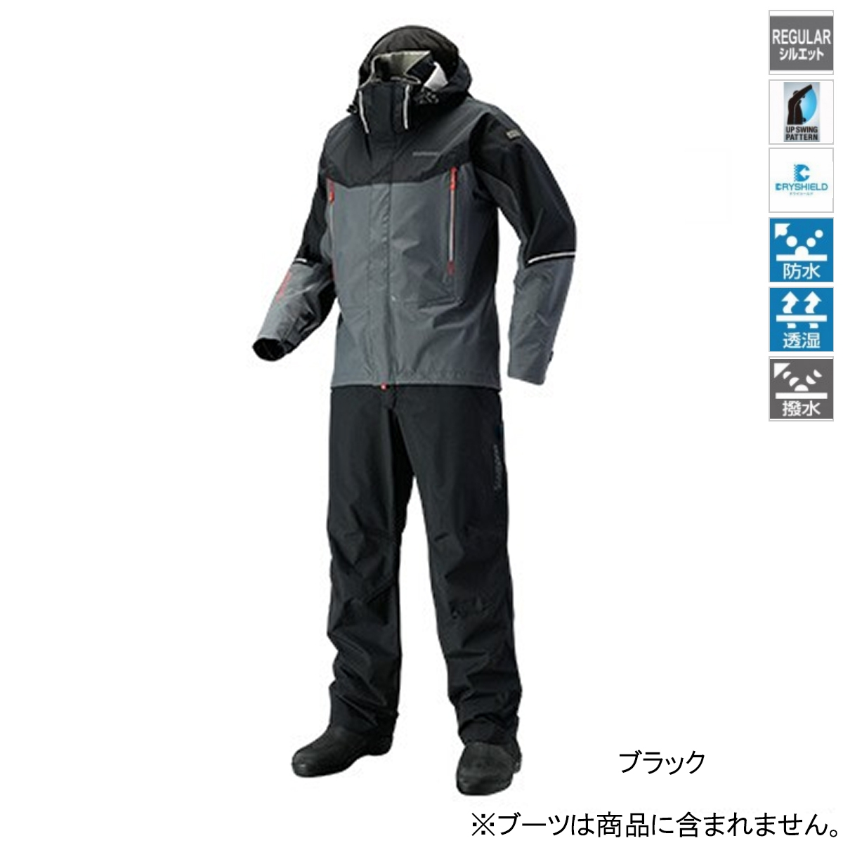 シマノ DSアドバンススーツ RA-025S L ブラック