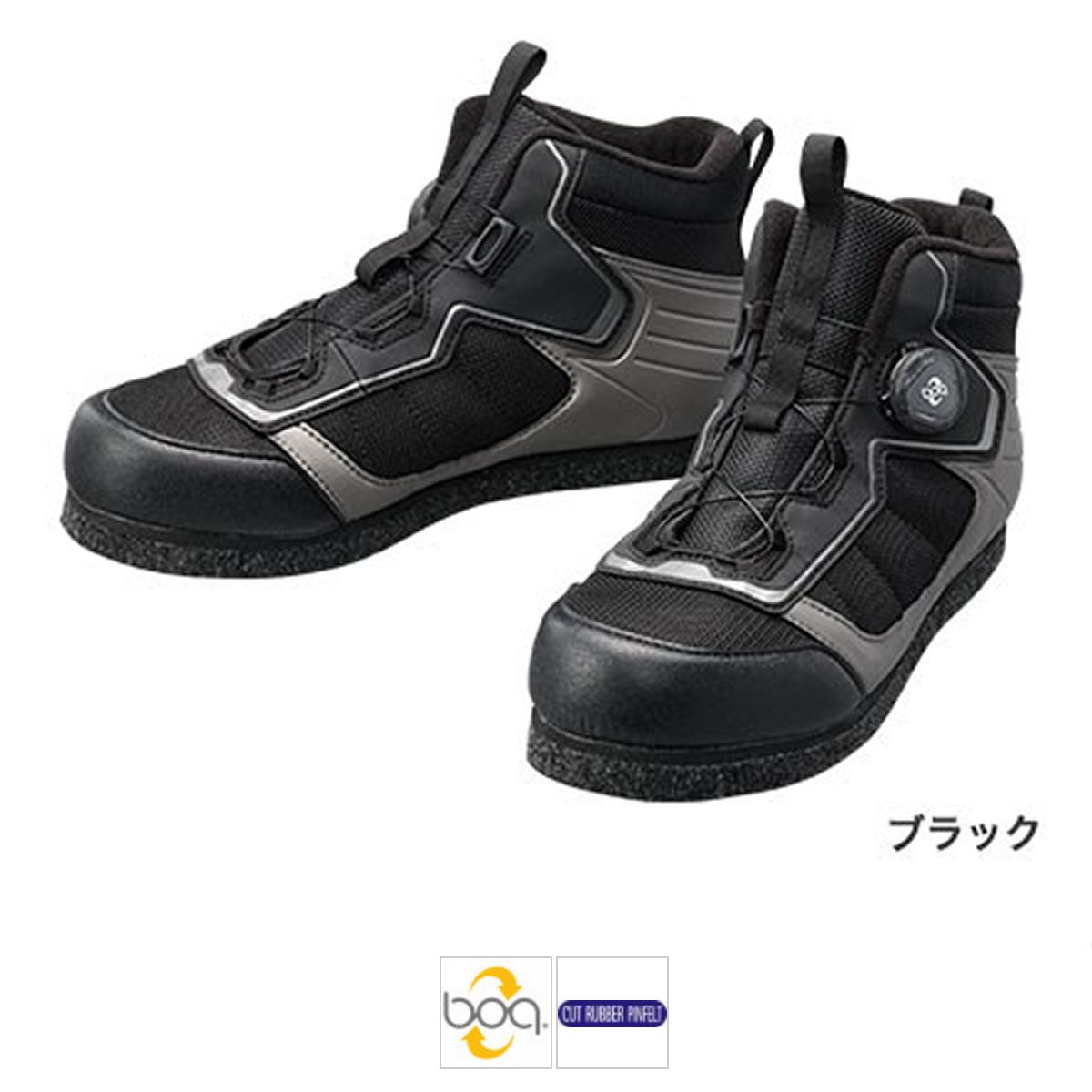 シマノ カットラバーピンフェルトフィットシューズ LT FS-041Q 27cm ブラック