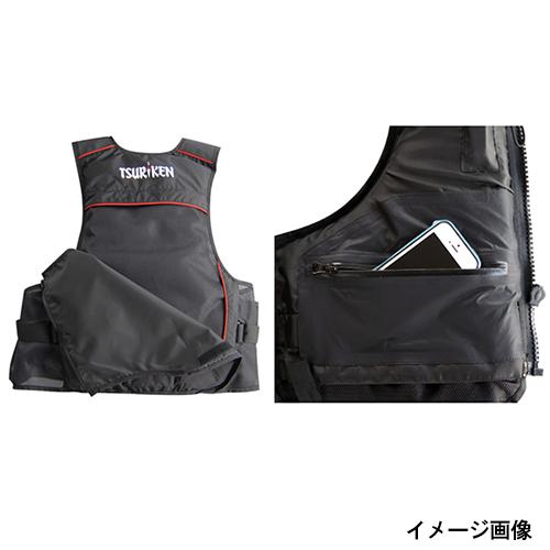 渔业研究所 (Tsuriken) 浮动背心 TV151 XL 黑色