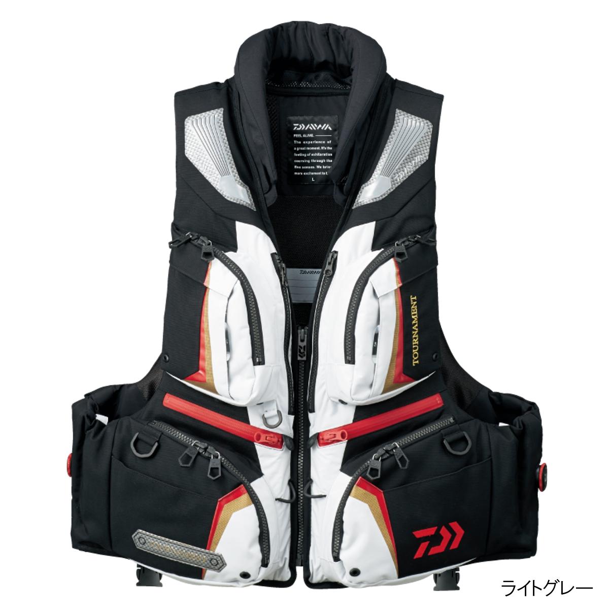 ダイワ トーナメント バリアテック 枕つきサイバーフロート DF-3107 L ライトグレー