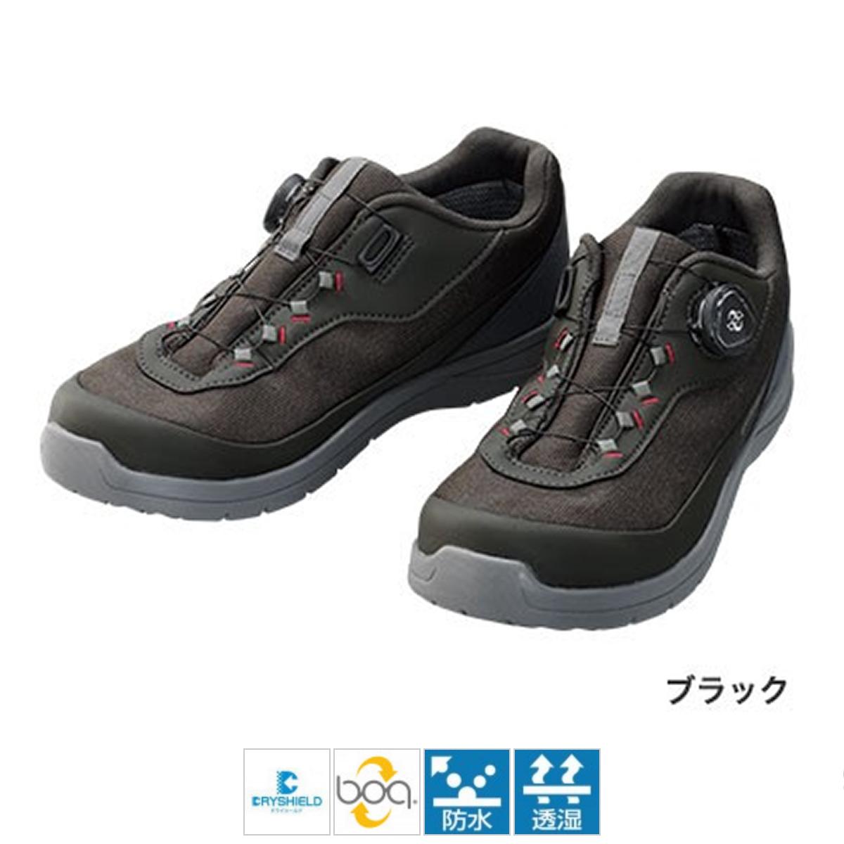 シマノ ドライシールド デッキラジアルフィットシューズ LW FS-081Q 26cm ブラック