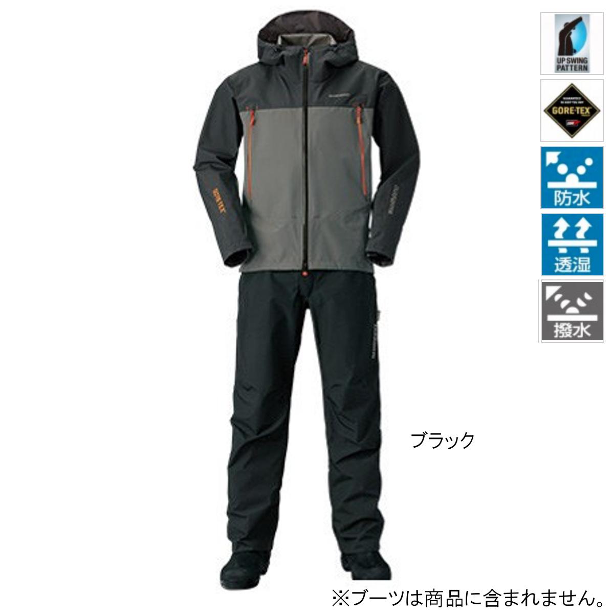 シマノ GORE-TEX ベーシックスーツ RA-017R L ブラック