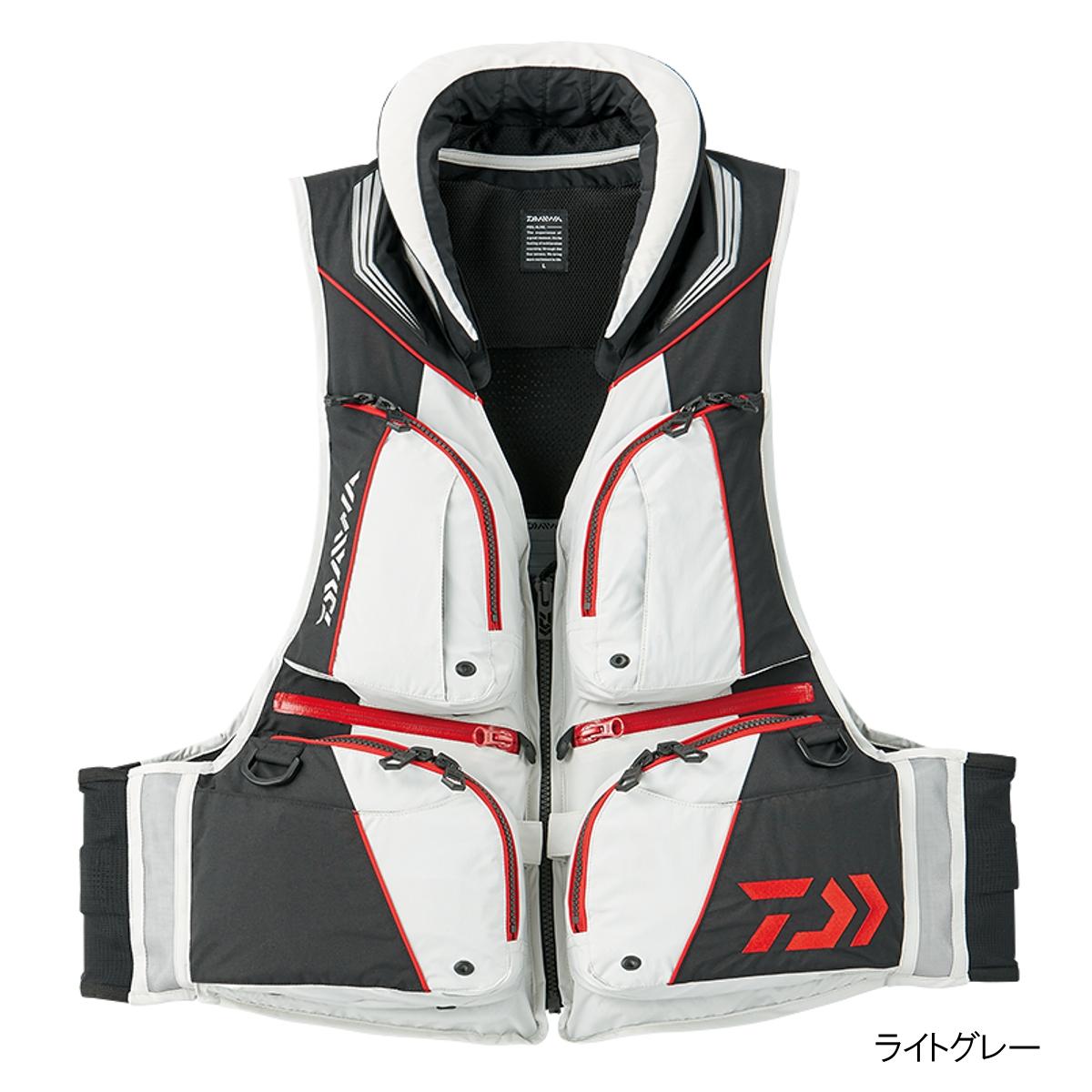 ダイワ トーナメント バリアテック 枕つきサイバーフロート DF-3508 L ライトグレー
