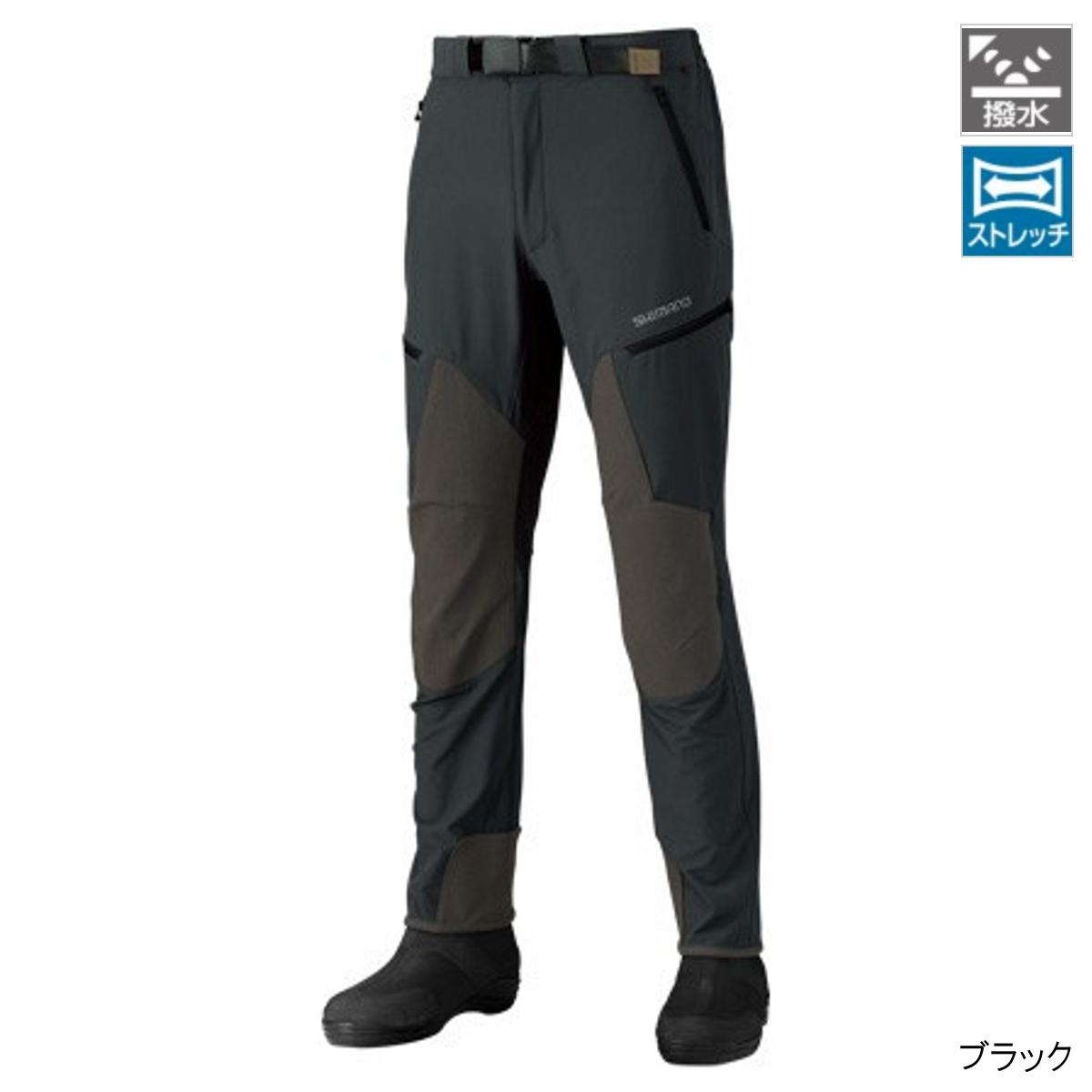 シマノ 撥水ストレッチパンツ PA-041R L ブラック