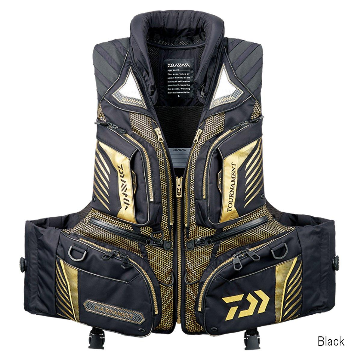 ダイワ トーナメント バリアテック 枕つきサイバーフロート DF-3108T L Black