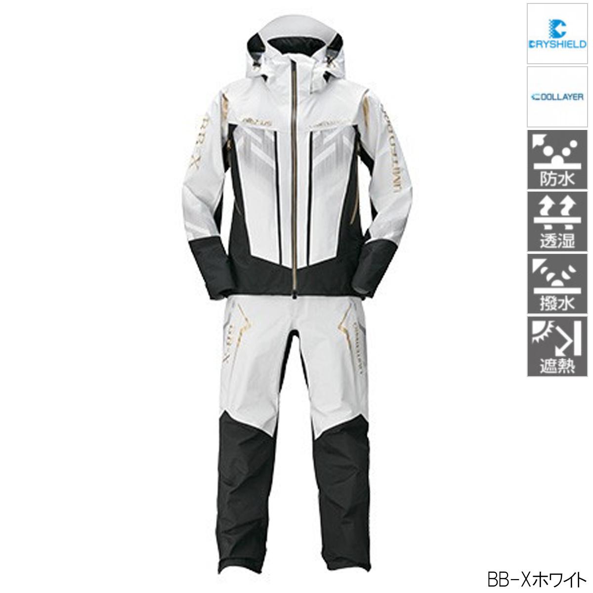 シマノ NEXUS DSクール レインスーツ LIMITED PRO RA-123T L BB-Xホワイト
