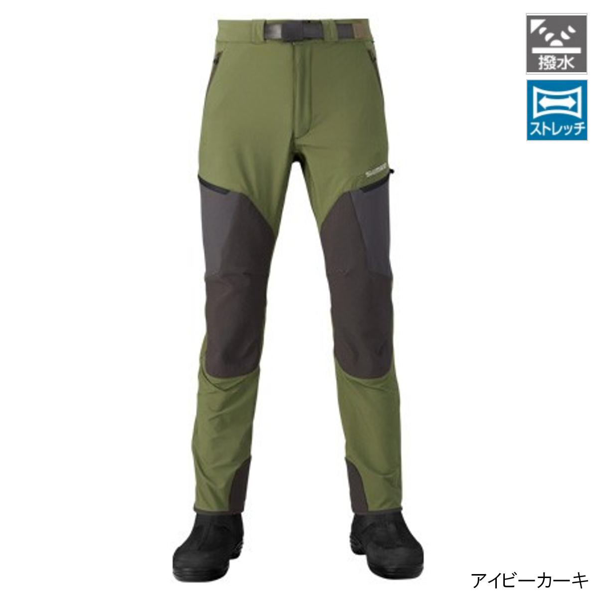 シマノ 撥水ストレッチパンツ PA-041R XL アイビーカーキ