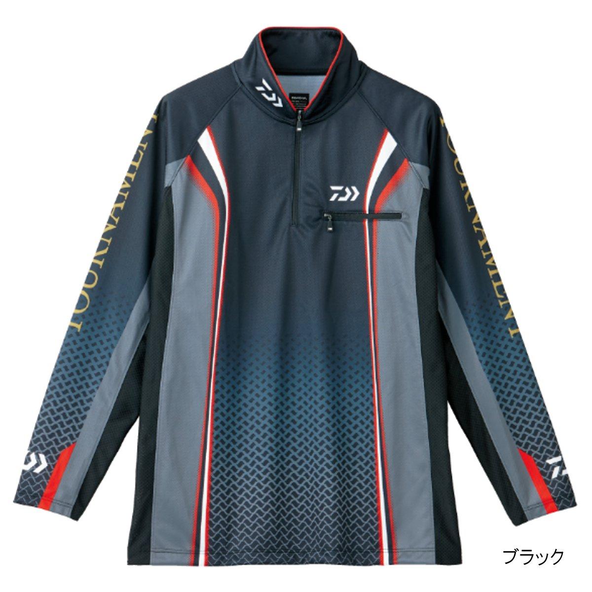 ダイワ トーナメント ドライシャツ DE-7406 XL ブラック