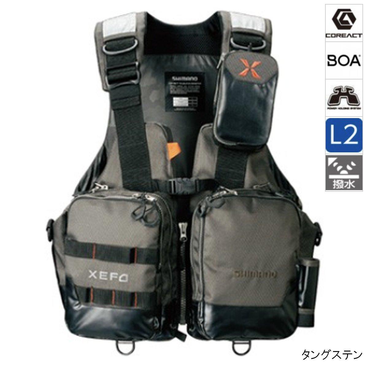 シマノ XEFO・アクトゲームベスト VF-274R XL タングステン [11dmnb]