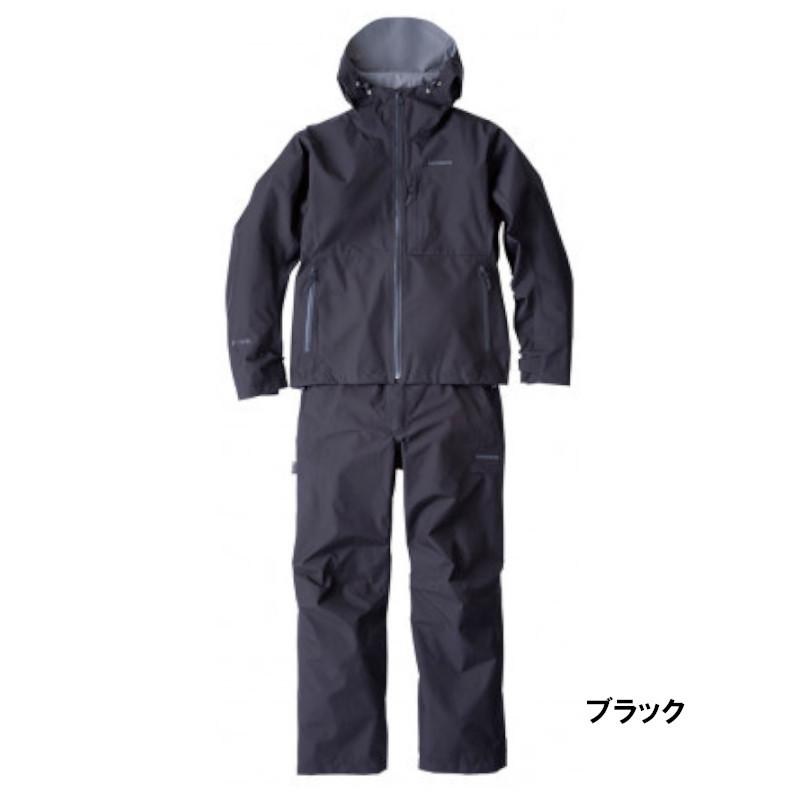 <title>日本全国 送料無料 釣具のポイント シマノ GORE-TEX ベーシックレインスーツ RA-017U L ブラック</title>