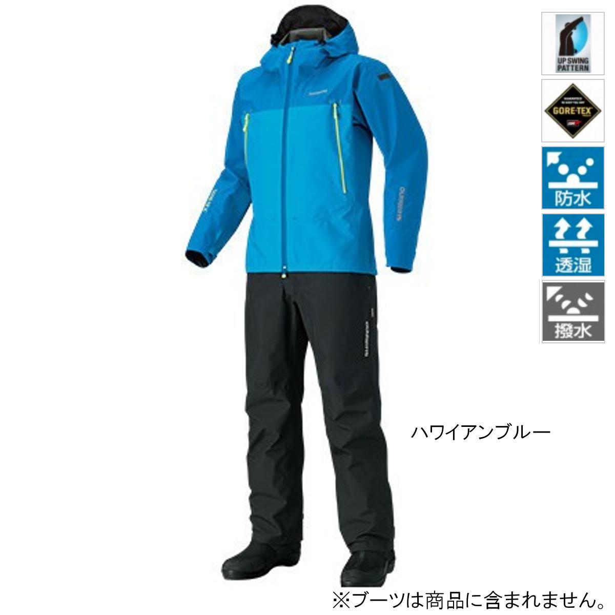 シマノ GORE-TEX ベーシックスーツ RA-017R XL ハワイアンブルー