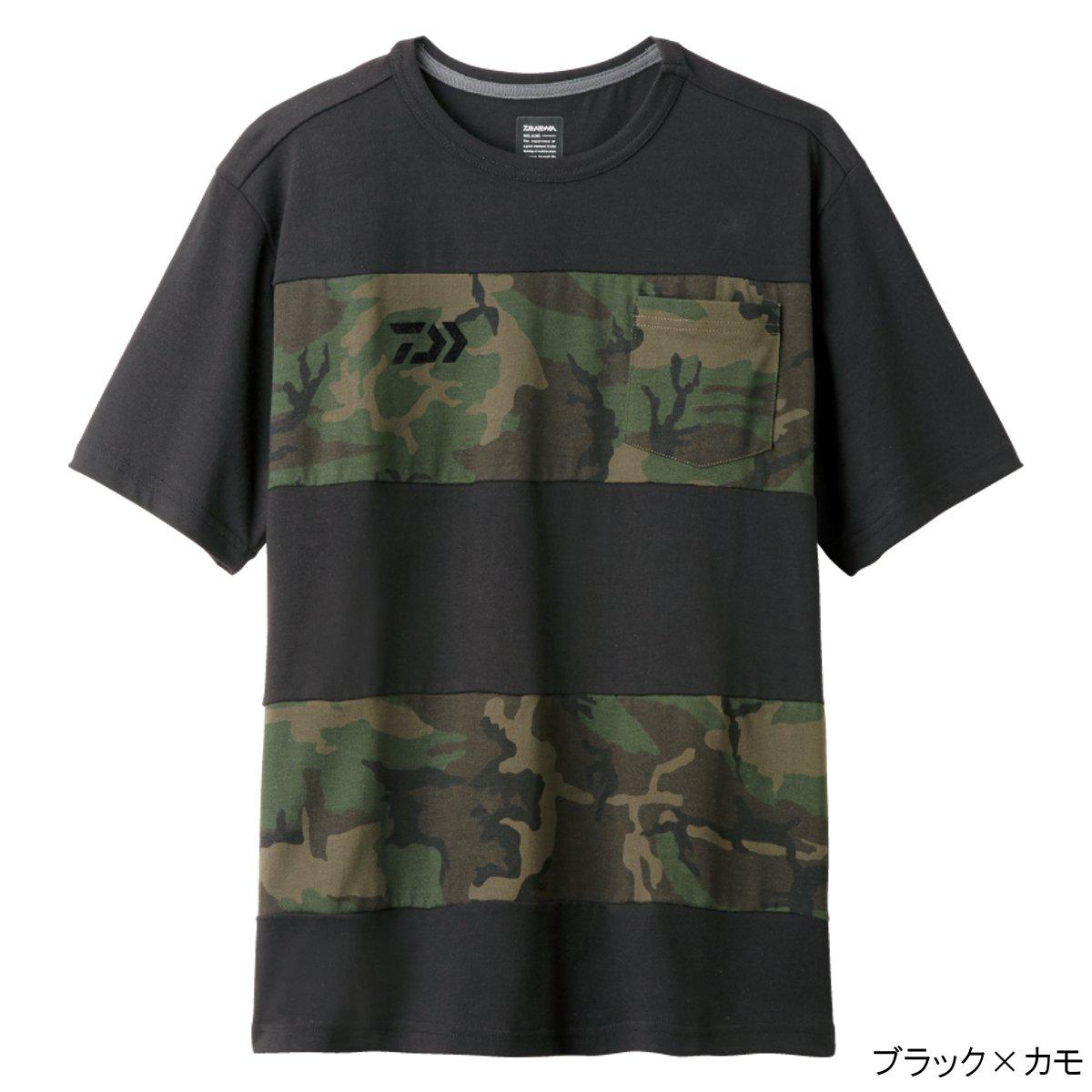 大和(Daiwa)边缘短袖衬衫DE-8507 XL黑色×野鸭