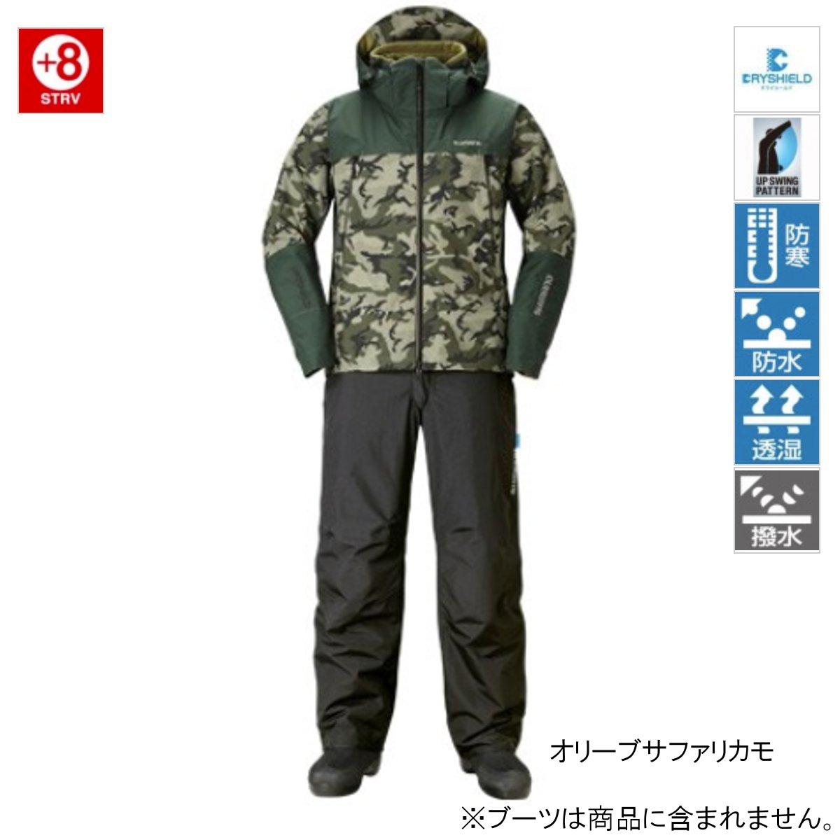 シマノ DSアドバンスウォームスーツ RB-025R L オリーブサファリカモ [11dmnbbkn]