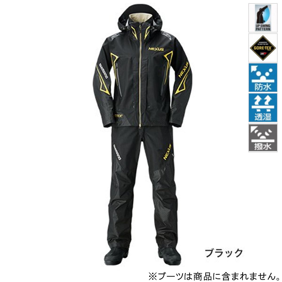 【5日24h限定 全品10倍】シマノ NEXUS GORE-TEX レインスーツ EX RA-119R L ブラック