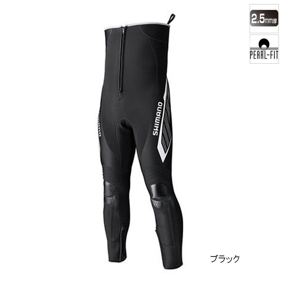 シマノ ブラックパールフィット・鮎タイツ(ハイブリッドタイプ) TI-061R MB ブラック