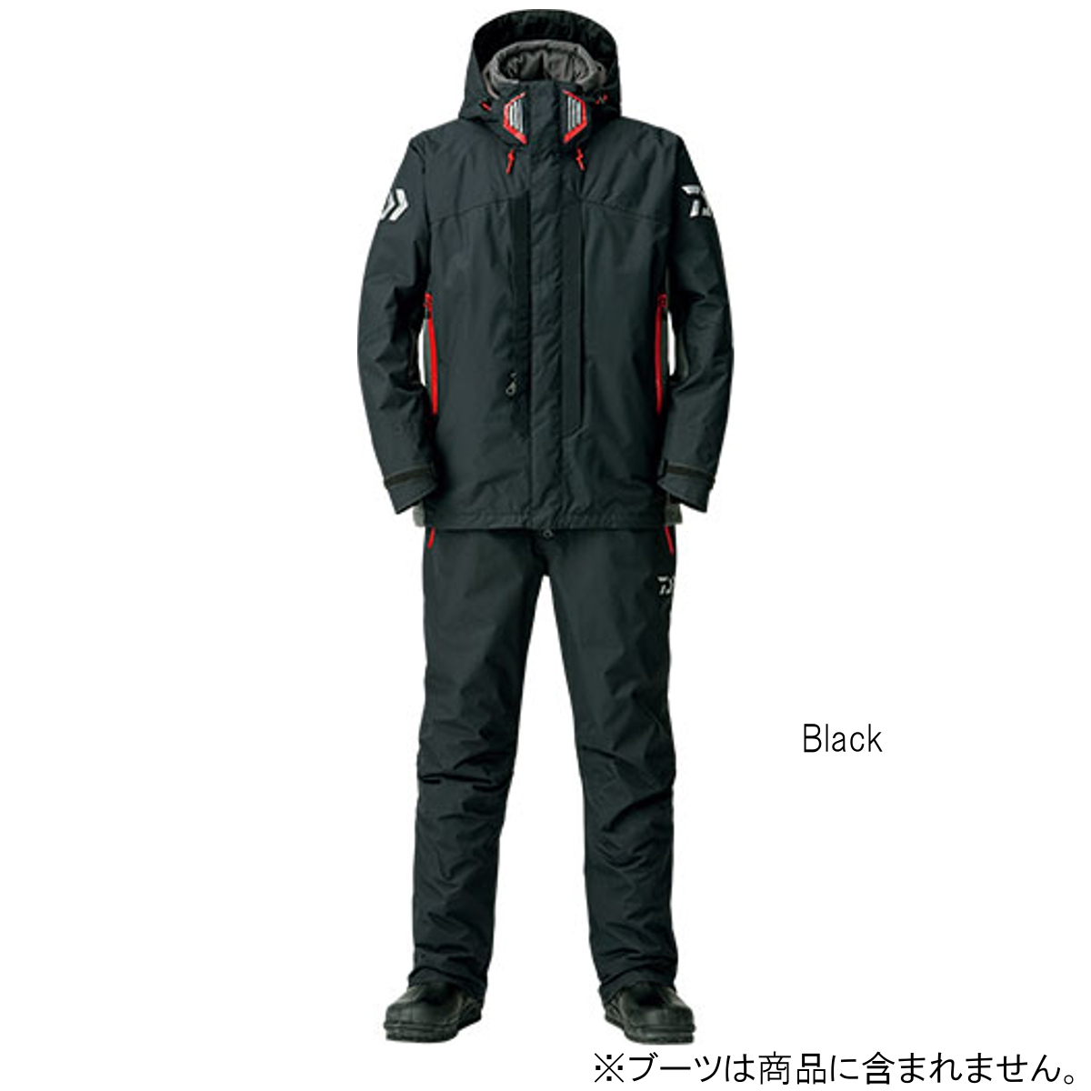 ダイワ レインマックス ハイパー ハイロフト コンビアップ ウィンタースーツ DW-3408 XL Black