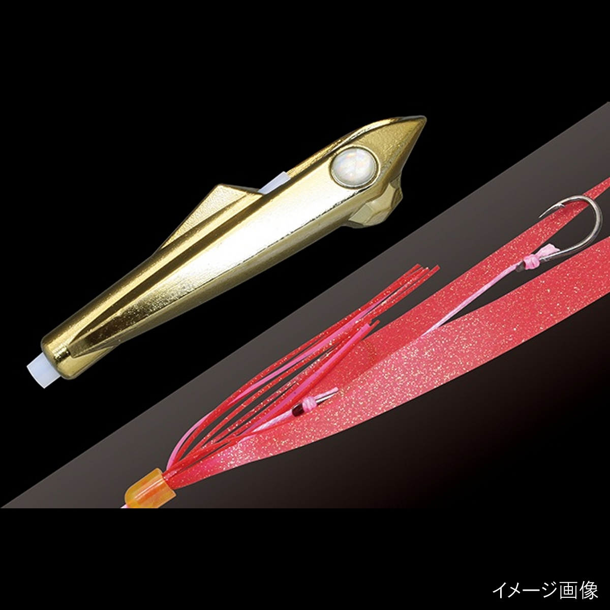 Jackal (JACKALL) Bing rocket 30 g plated / red gold flag