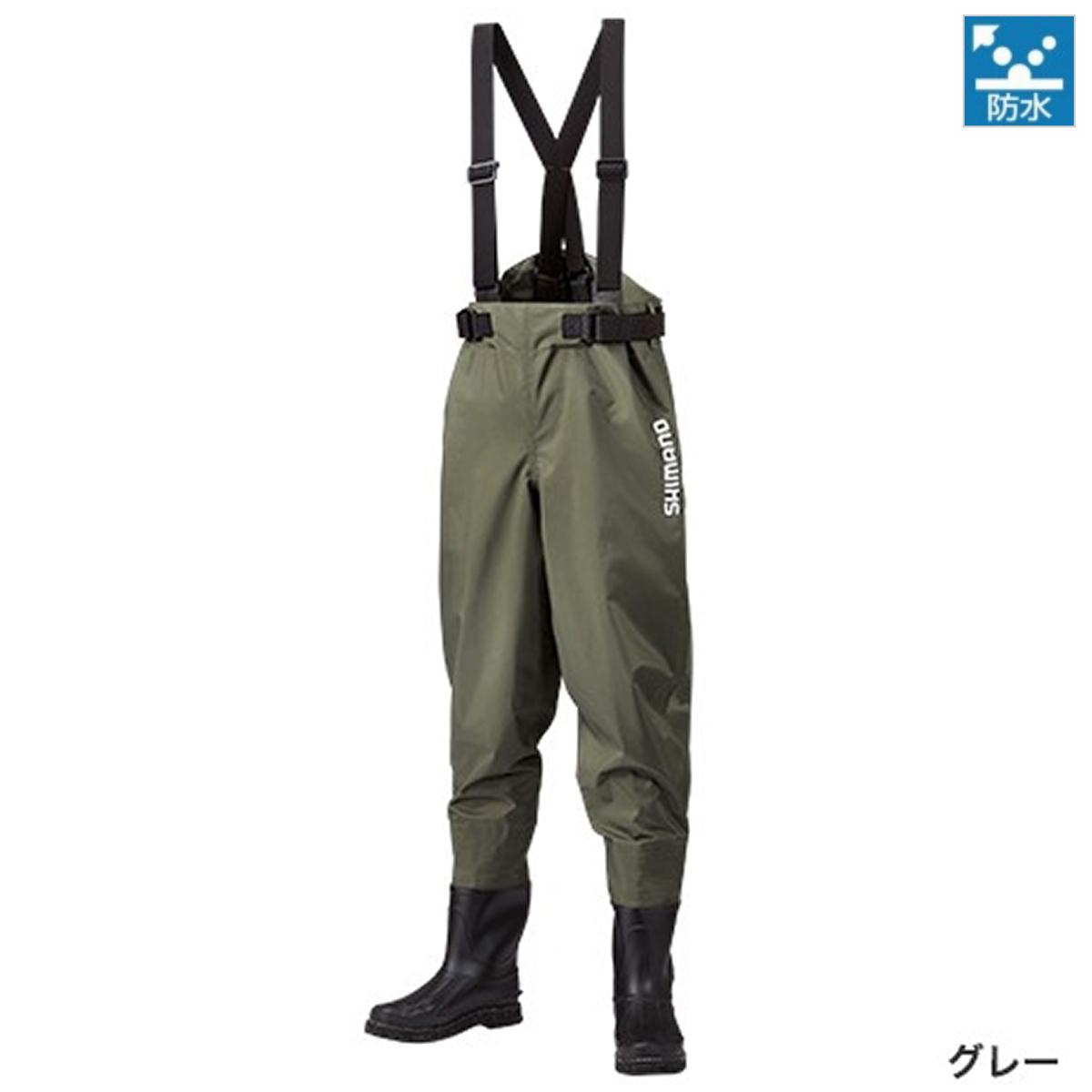シマノ マックスデュラウェーダー(中丸ウエスト・カットフェルトソールタイプ) WA-052R MO グレー