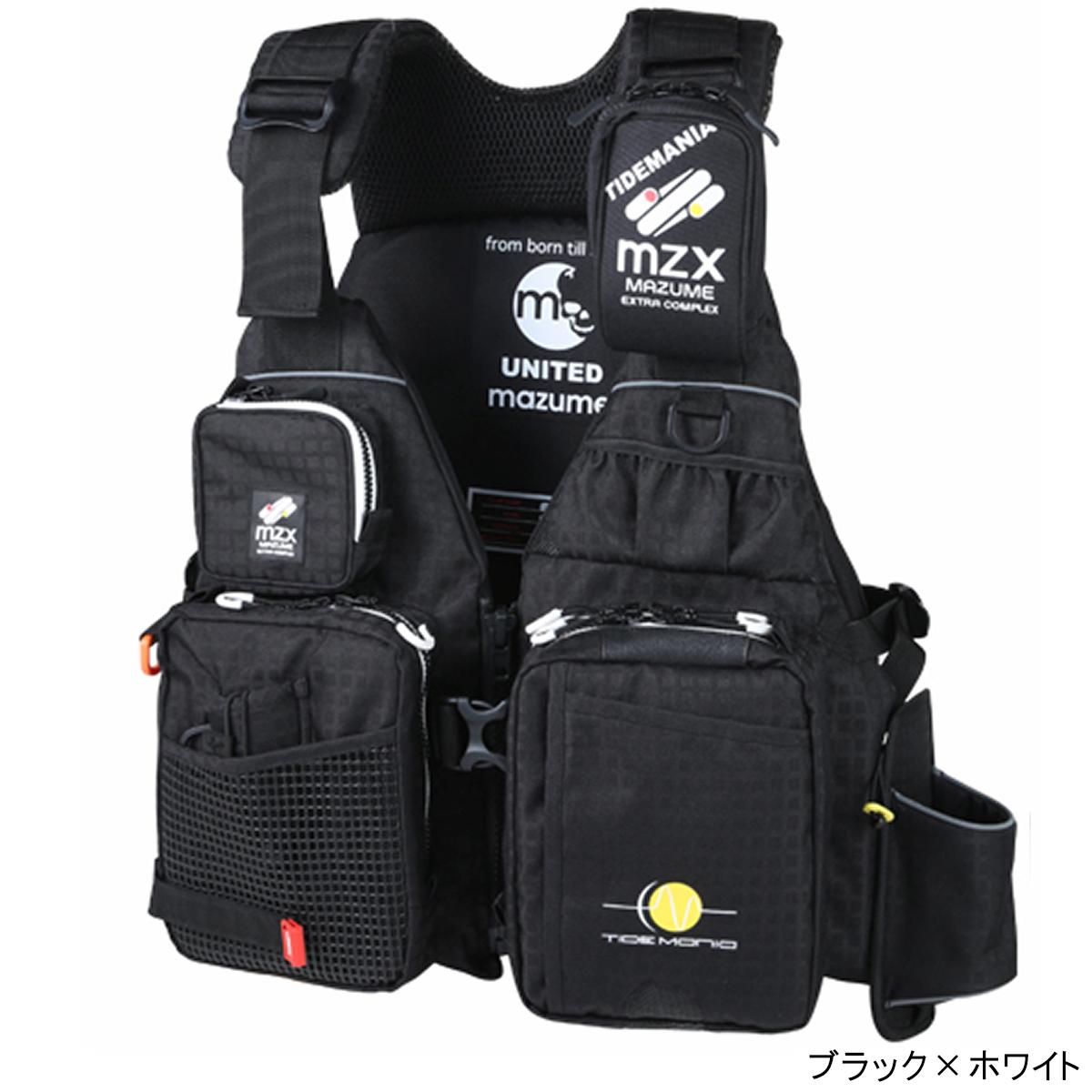 オレンジブルー mazume MZX タイドマニアライフジャケット MZXLJ-049 フリー ブラック×ホワイト