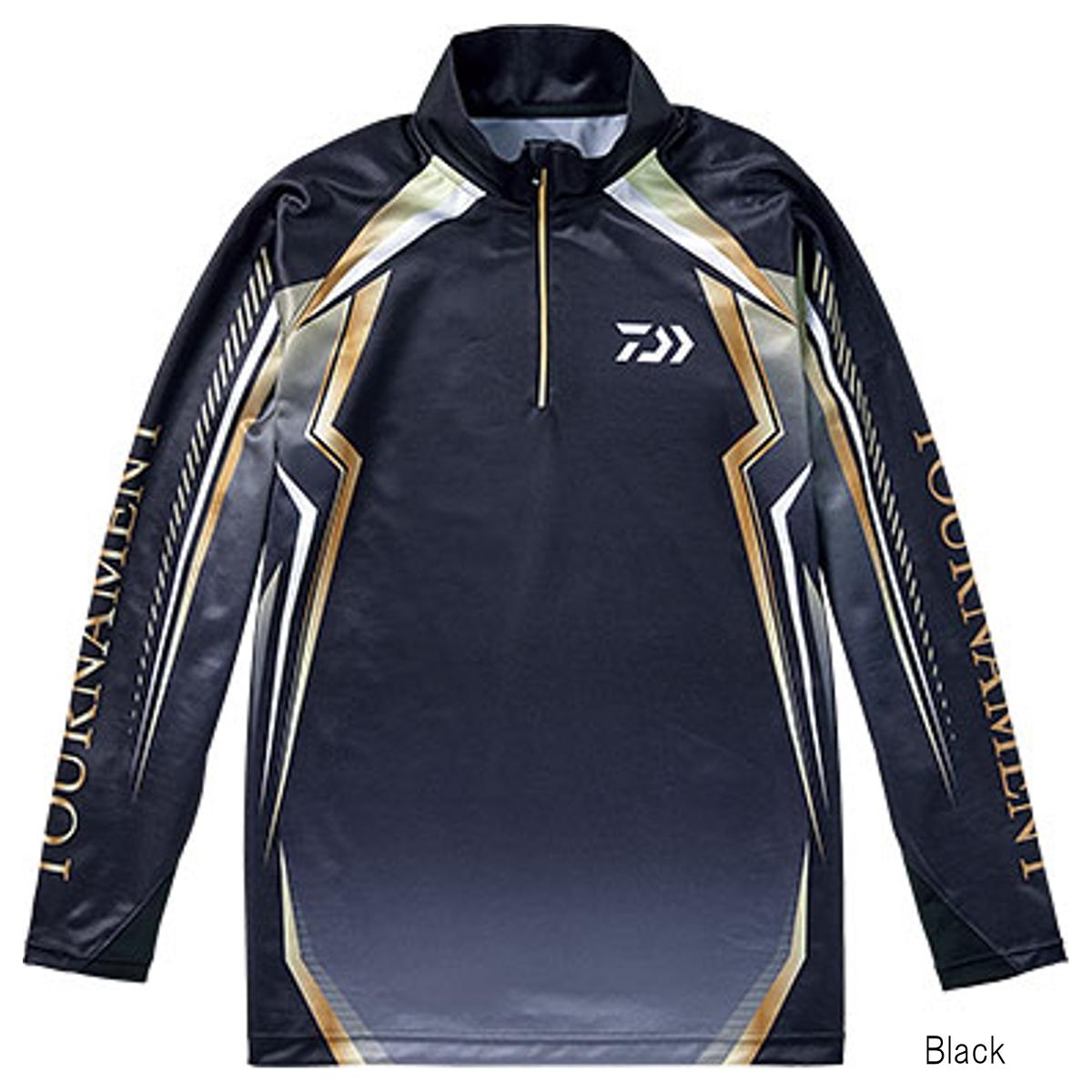 ダイワ トーナメント ドライシャツ DE-77008T XL Black