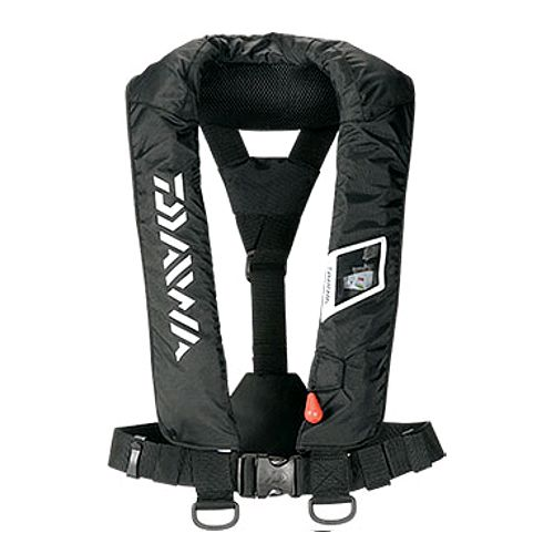 Daiwa (Daiwa) washable life jacket (shawl type manual operation, automatic swelling type) DF -2005-free black