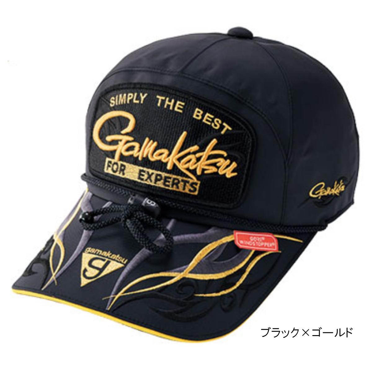 ウィンドストッパーキャップ(ワッペン) GM-9841 LL ブラック×ゴールド