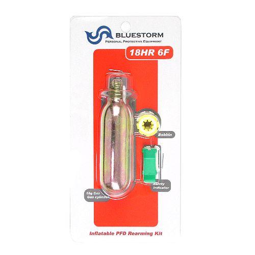 供高階救命器具(Takashina)藍色暴風雨交換使用的液化氣瓶配套元件18HR 6F