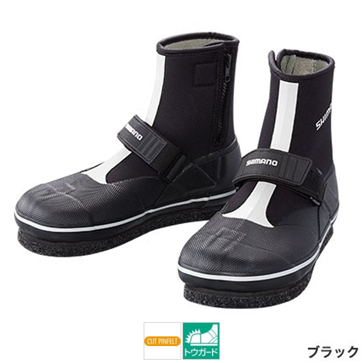 シマノ カットピンフェルトタビ(中割) TA-073Q LL ブラック