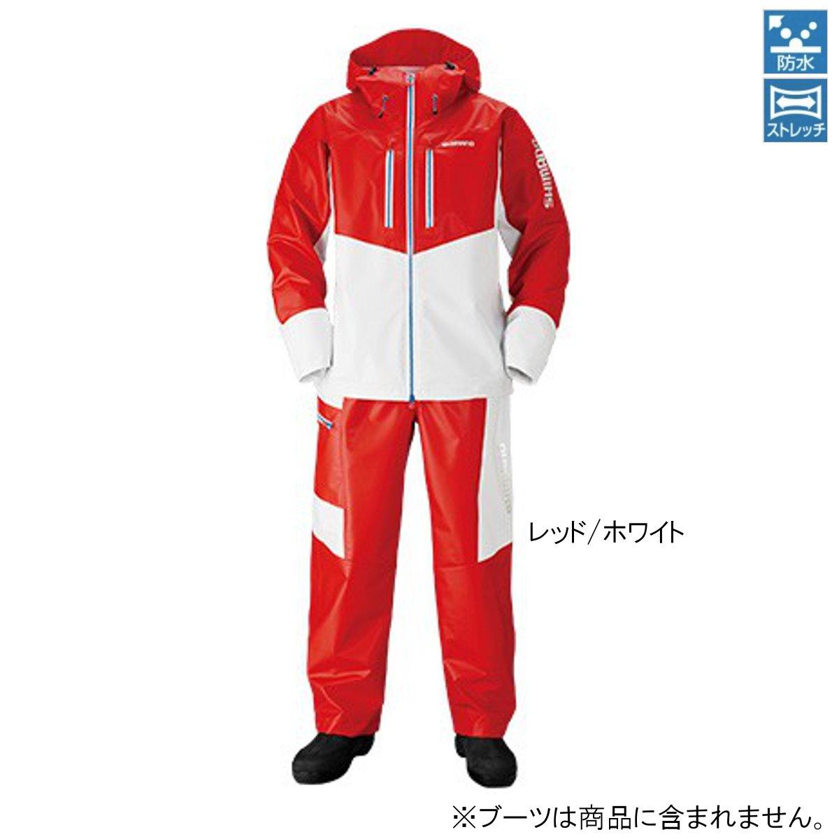 シマノ マリンライトスーツ RA-034N 2XL レッド/ホワイト