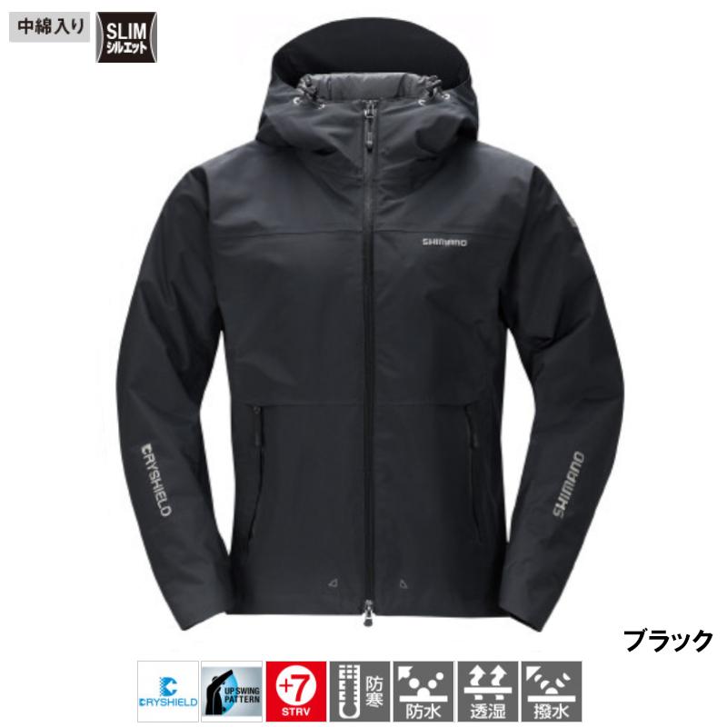【10/18最大P40倍!】シマノ DSエクスプローラー ウォームジャケット 2XL ブラック [RB-04JS]