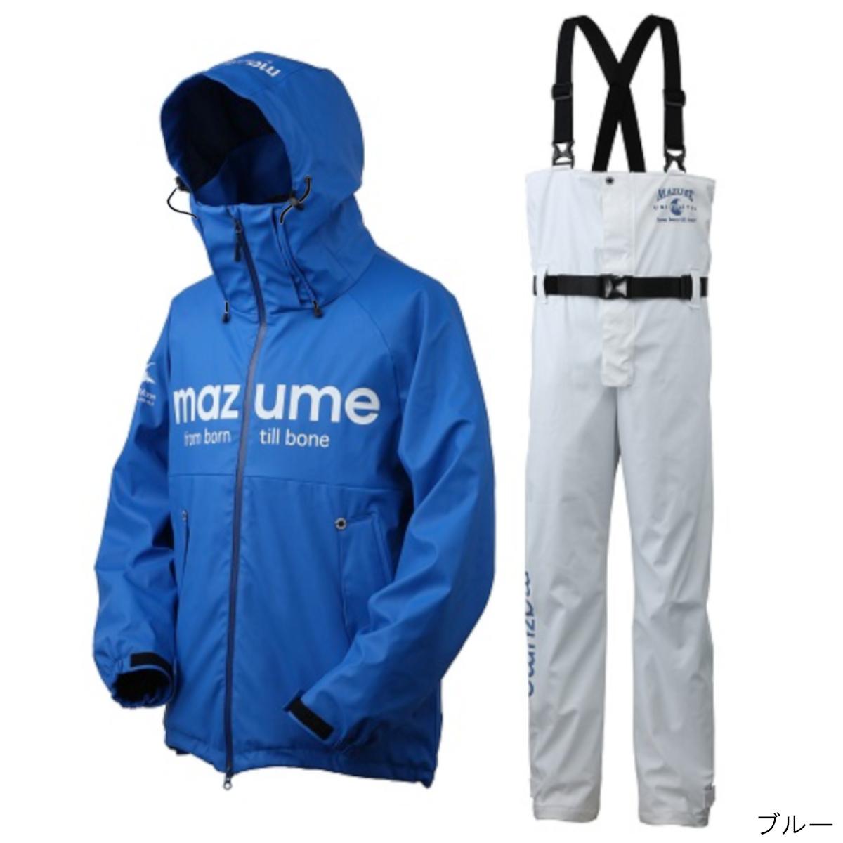 オレンジブルー mazume ラフウォーターレインスーツ III MZRS-434 LL ブルー