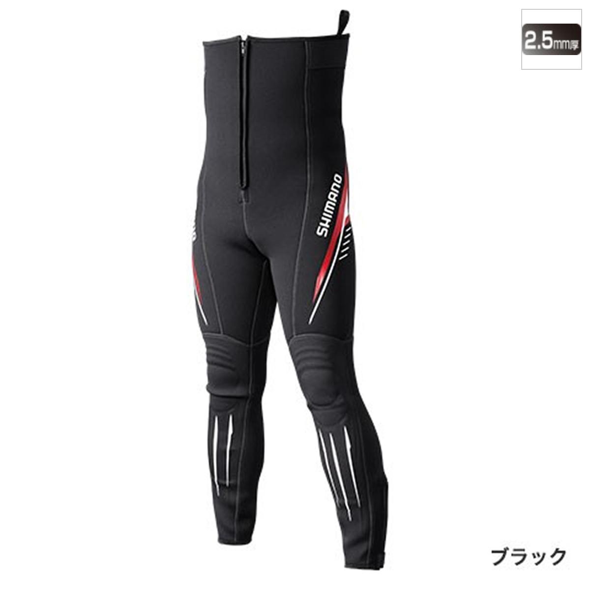 シマノ 鮎タイツT-2.5 TI-071Q LLB ブラック