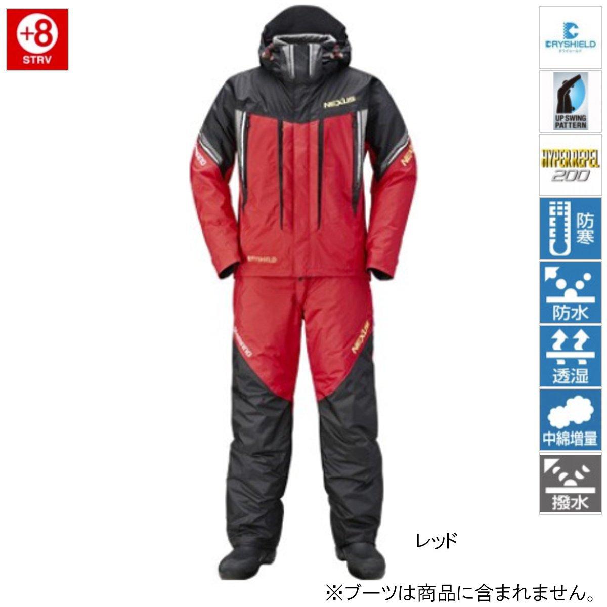 【期間限定50%OFF】シマノ スーツ RB-125Rレッド M【訳あり 売り尽し】 akafuda
