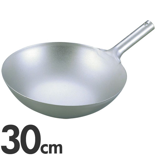 【代引不可】EBM 純チタン 超軽量 中華片手鍋 30cm(中華鍋)
