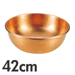 【代引不可】SA 銅 打出 さわり鍋 手無・スズメッキなし 42cm