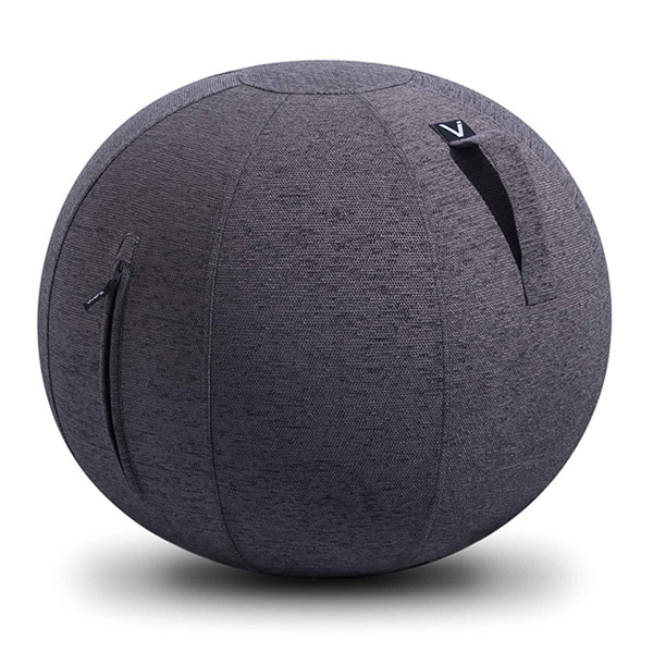 vivora(ビボラ) シーティングボール ルーノ シェニール チャコールグレー バランスボール 65cm