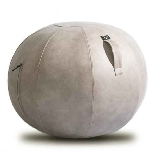 vivora(ビボラ) シーティングボール ルーノ レザーレット ライトグレー バランスボール 65cm