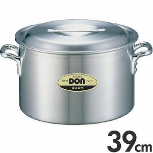 アカオアルミ 硬質アルミ 両手鍋 DON 半寸胴鍋 39cm 28L