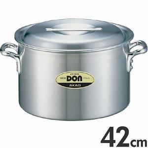 アカオアルミ 硬質アルミ 両手鍋 DON 半寸胴鍋 42cm 36L