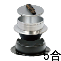 ウルシヤマ金属 謹製 釜炊き三昧 5合 ガス火専用 ごはん 釜