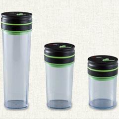 ジアレッティ 保存容器 自動真空キャニスター 3本セット(0.8L&1L&1.8L) GR-009T