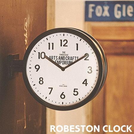 前からも後ろからも時間がわかるダブルフェイスクロック 両面時計 掛け時計 トラスト ROBESTON ロベストン ダブルフェイス 時計 ウォールクロック インダストリアル アメリカン カフェ おしゃれ 店舗 寝室 インターフォルム バースデー 記念日 ギフト 贈物 お勧め 通販 静か CL-2138 INTERFORM 廊下 スイーブムーブメント リビング