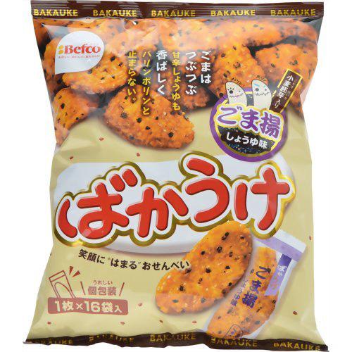 栗山米菓 ばかうけ ごま揚 1枚x16袋×12入