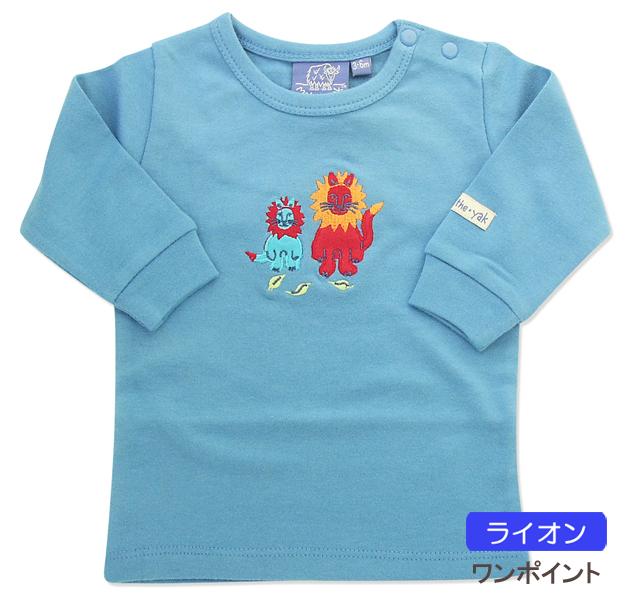 NY 발 Mak the Yak ☆ 고급 코 튼 100% ☆ 롱 T 셔츠 (롱 T/긴 소매 T 셔츠/80cm/90cm/아기 옷/키즈/아동 의류)
