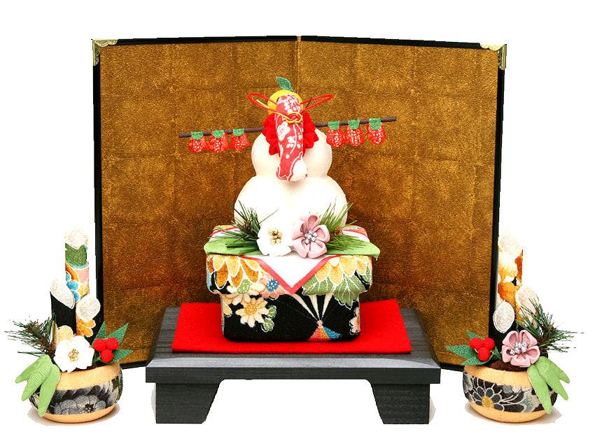 迎春用和雑貨 「和ごころ鏡餅門松セット」ちりめん細工正月飾り リュウコドウ  【送料無料】一部地域を除く