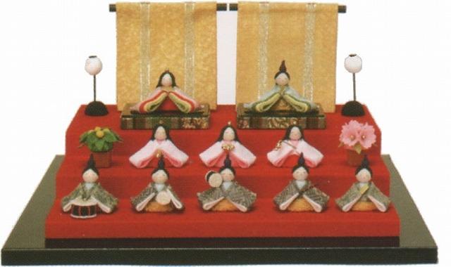 雛人形(ひな人形) ひなまつり 癒しの和雑貨 和ごころ なごみ豆雛 10人揃い 手作り コンパクト  リュウコドウ ひなまつり  【送料無料】