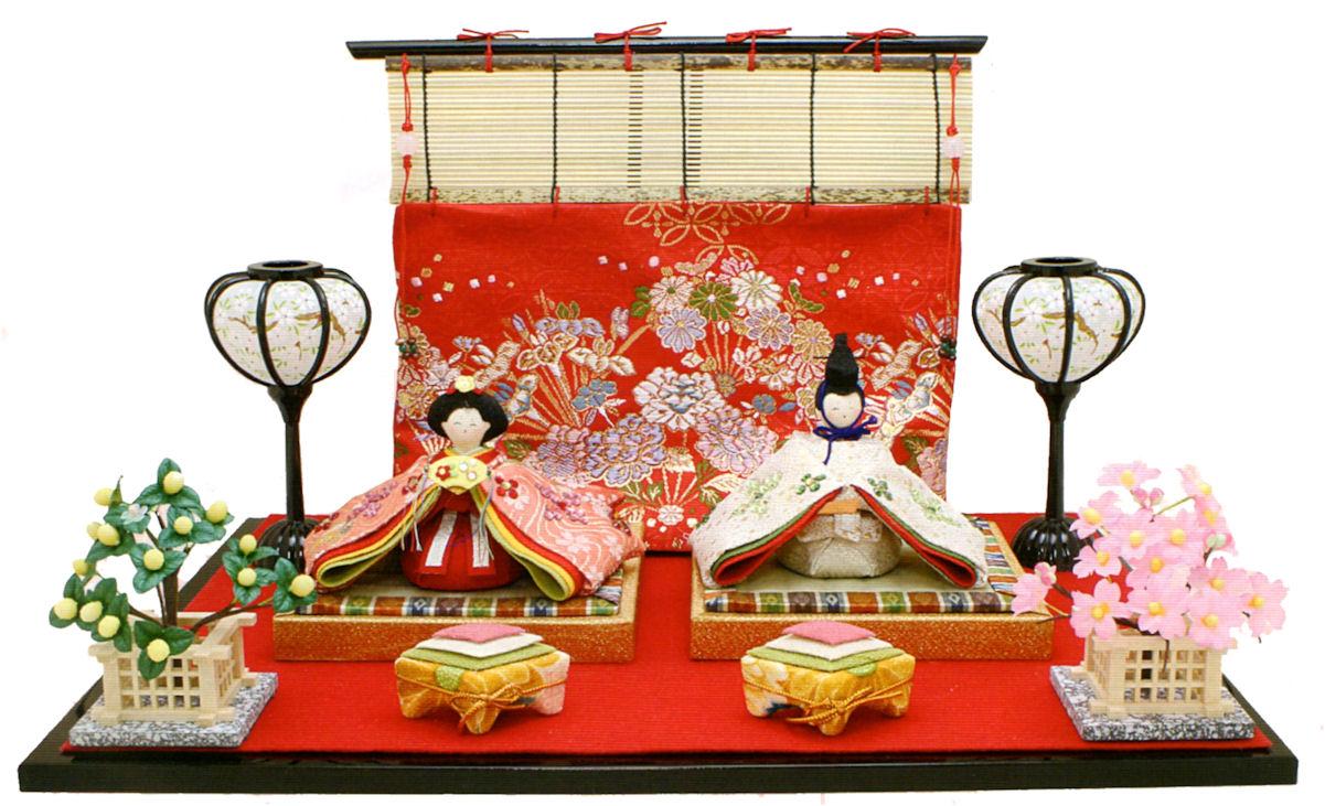 5%OFF クーポン 雛人形 きらら雛 几帳付 手作りちりめん細工 和雑貨  コンパクト リュウコドウ ひなまつり 送料無料 出店10周年記念