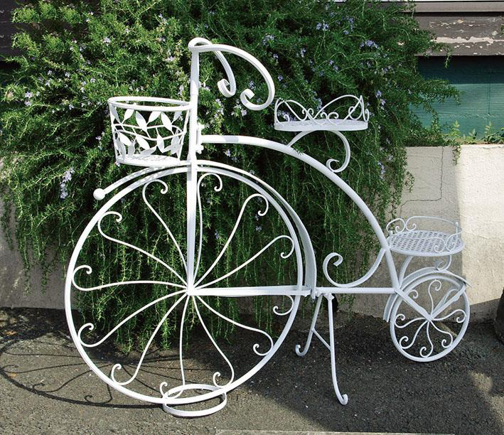 自転車型プランターラック